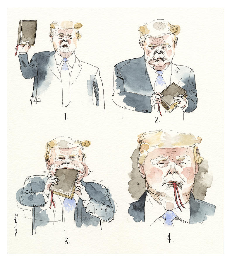 Best Book Ever Painting by Barry Blitt