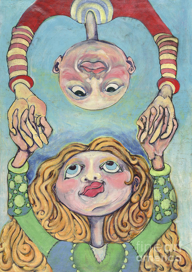 Whimsical Painting - Best Friends by Michelle Spiziri