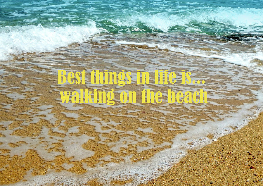 Best Things In Life Is Walking On The Beach Photograph