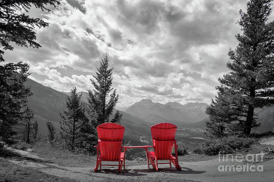Banff Photograph - Best View In Banff by Delphimages Photo Creations