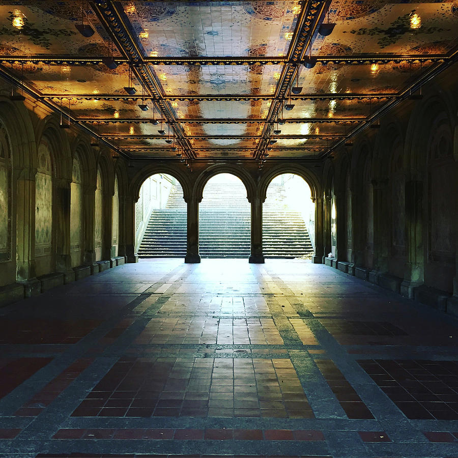New York City Photograph - Bethesda Terrace Arcade  by Jeremy Edsall