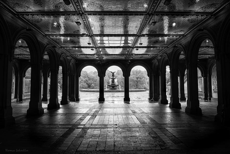 Nyc Photograph - Bethesda Terrace - Central Park by T-S Photo Art