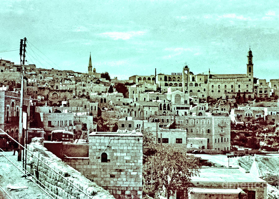 Bethlehem In 1963 In Colors Photograph