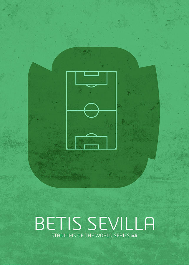 Stadium Mixed Media - Betis Sevilla Stadium Football Soccer Series by Design Turnpike