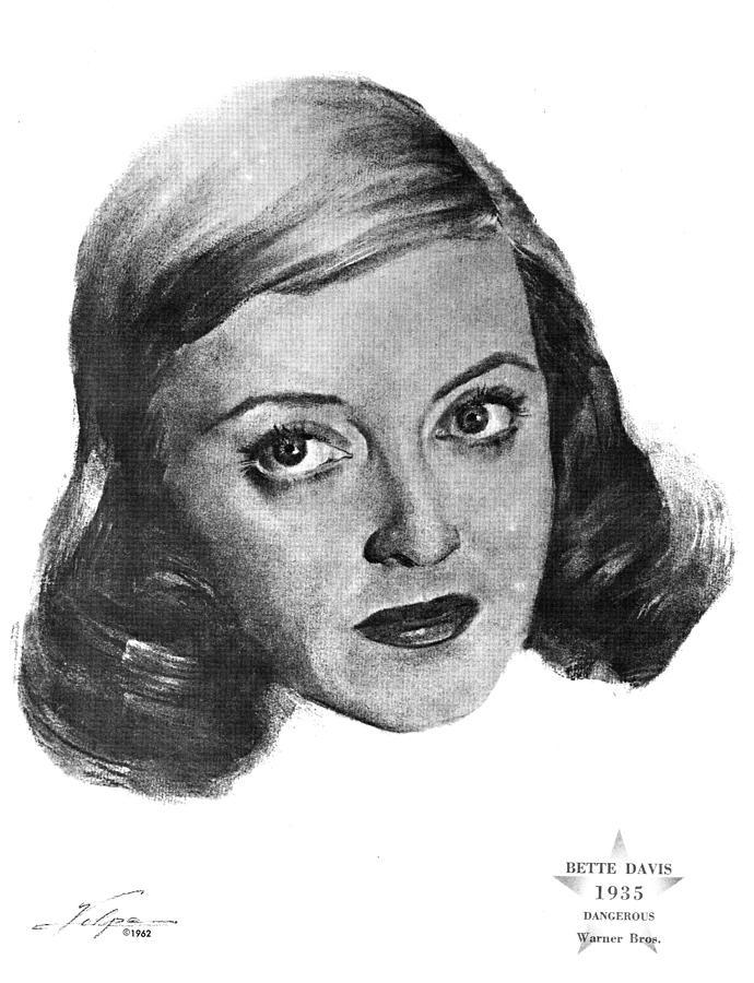 Bette Davis 1935 Drawing