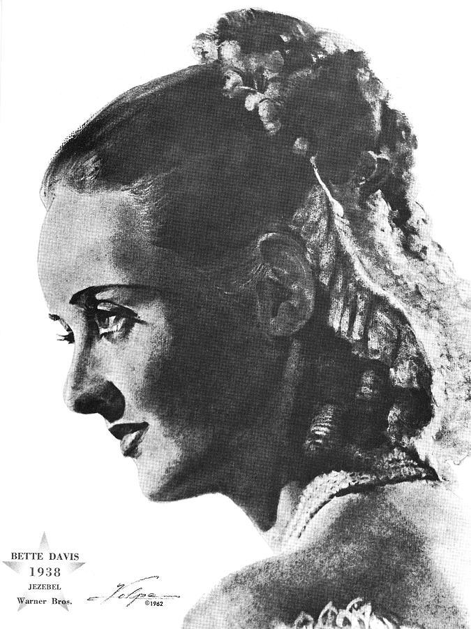 Bette Davis 1938 Drawing