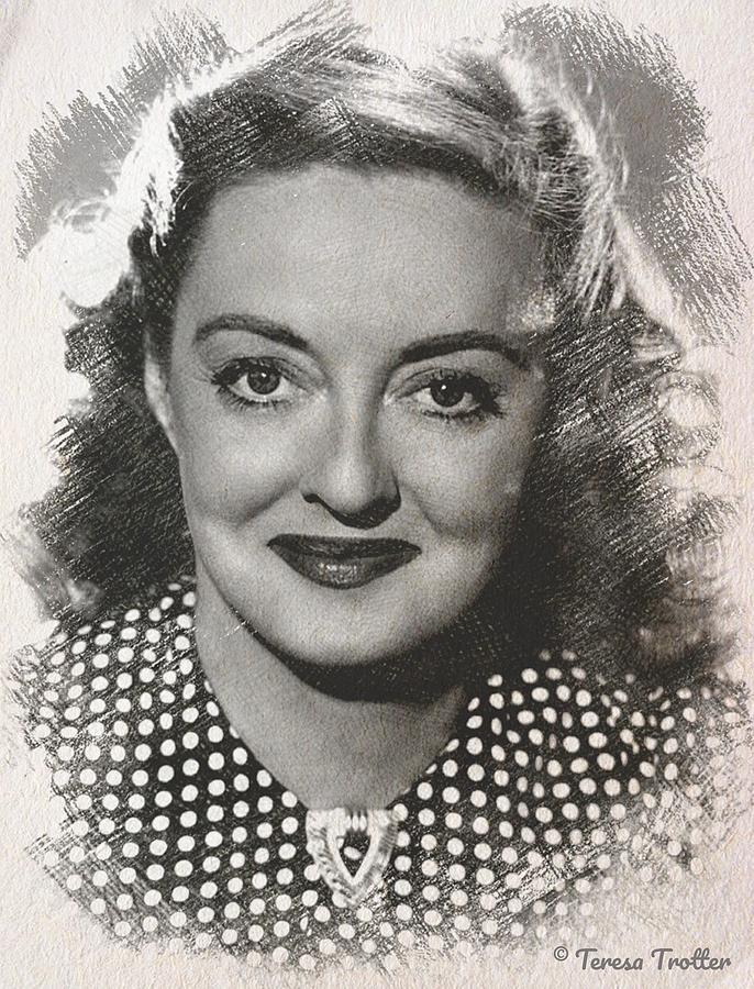 Bette Davis Sketch Drawing