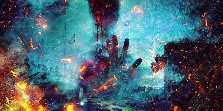 Surreal Digital Art - Between Life and Death by Mario Sanchez Nevado
