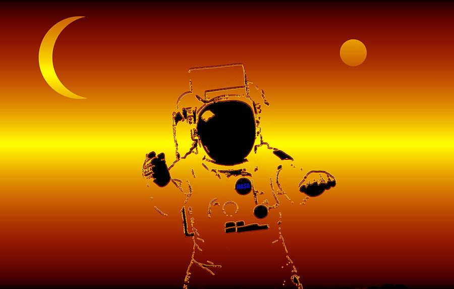 Between The Moon And Mars Mixed Media