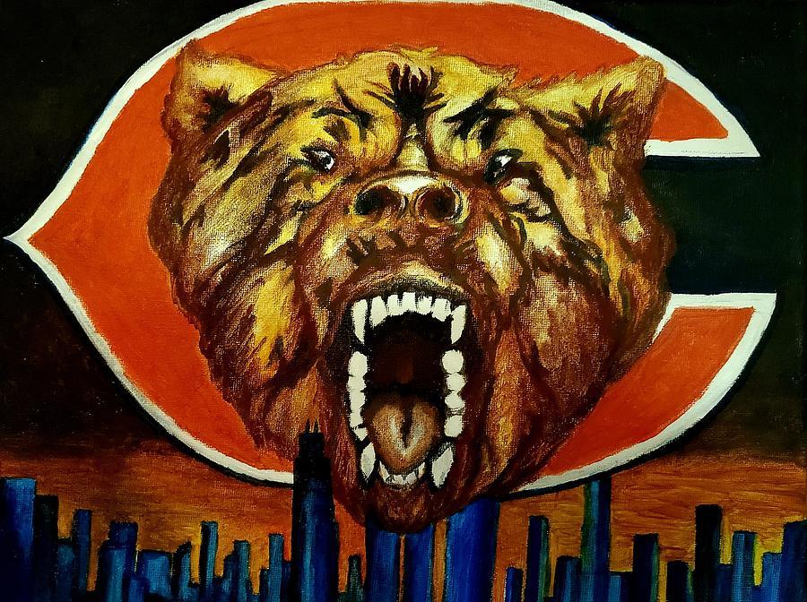 Chicago Painting - Beware of Da Bears by Glory Fraulein Wolfe
