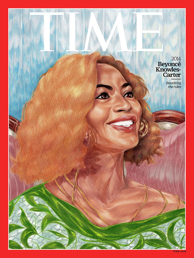 Time Photograph - Beyonce Knowles Carter, 2014 by Painting by Toyin Ojih Odutola for TIME