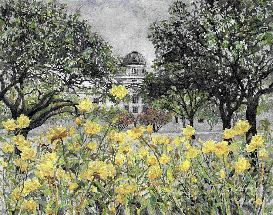 Beyond Rose Garden-gray Painting