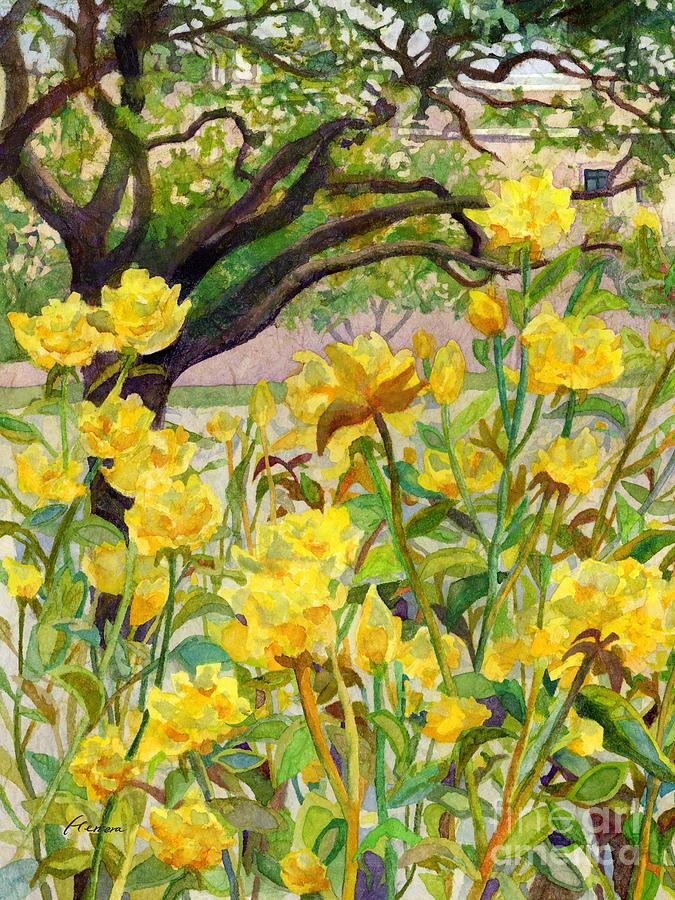 Beyond Rose Garden-left Painting