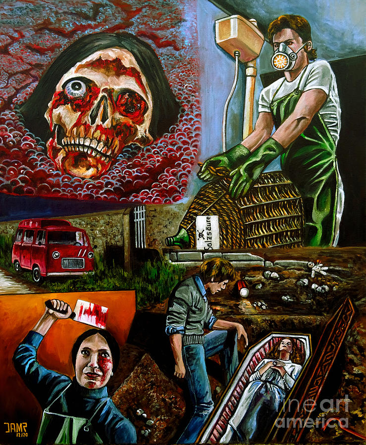 Giallo Painting - Beyond the darkness by Jose Mendez