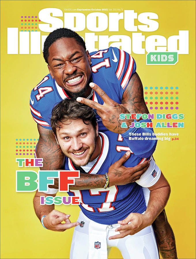 BFF Issue Cover, Buffalo Bills Josh Allen and Stefon Diggs Photograph by Sports Illustrated