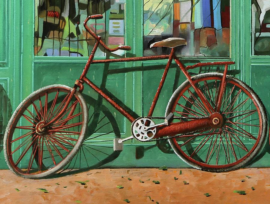 Bici Rossa Rotta Painting