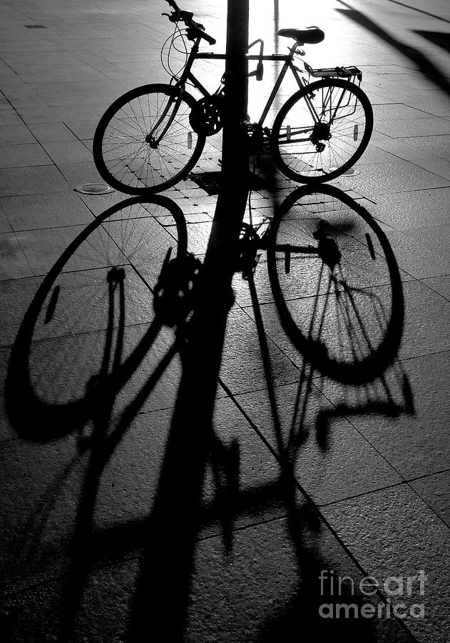 Bicycle Photograph - Bicycle shadow by Sheila Smart Fine Art Photography