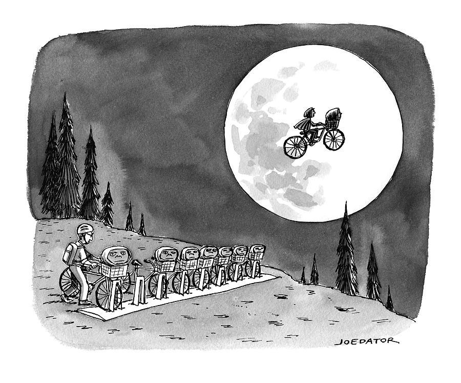 Bicycling Drawing by Joe Dator