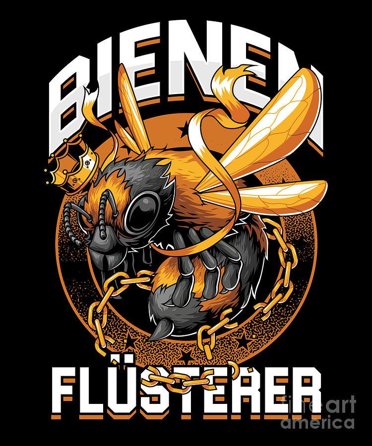 Bee Digital Art - Bienen Flsterer Bee Beekeeper Honeycomb Gift by Thomas Larch
