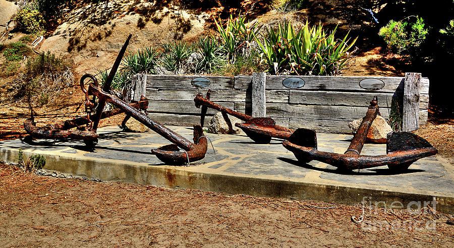 Big Anchors At Port Elliot, Adelaide By Kaye Menner Photograph