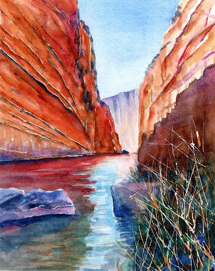 Big Bend Texas Santa Elena Canyon  by Carlin Blahnik CarlinArtWatercolor
