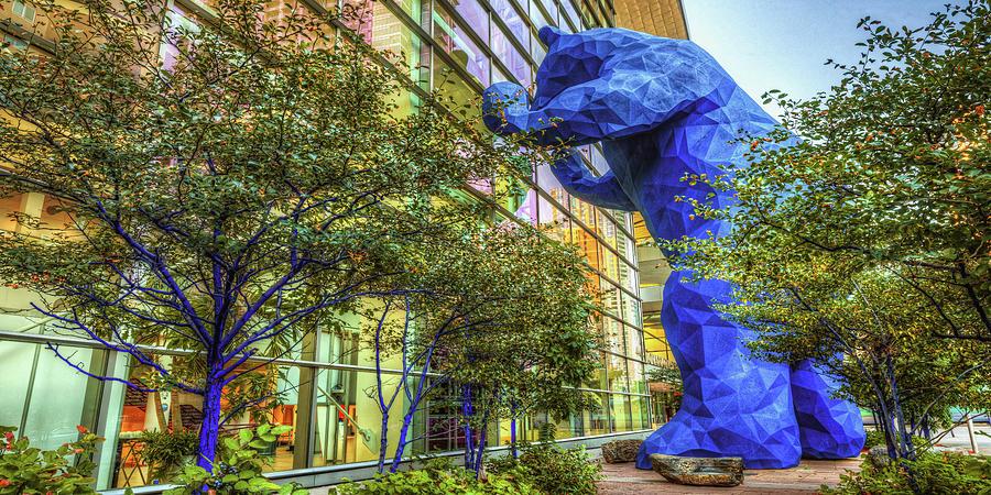 Big Denver Blue Bear Panorama - Colorado Convention Center Photograph