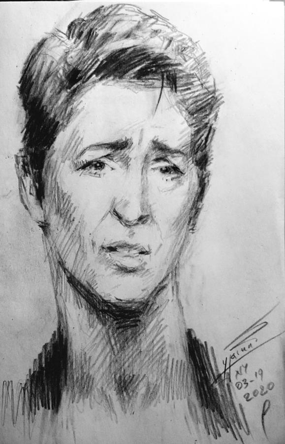 Rachel Maddow Drawing - Big Fan of Rachel by Ylli Haruni