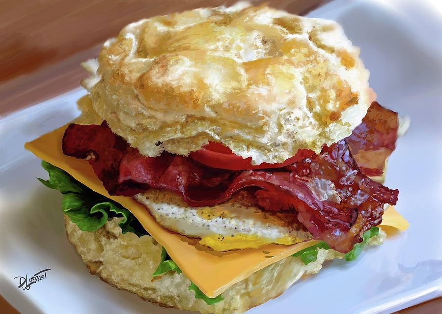 Big Fat Juicy Greasy Creamy Cheesy Breakfast Sandwich by David Luebbert