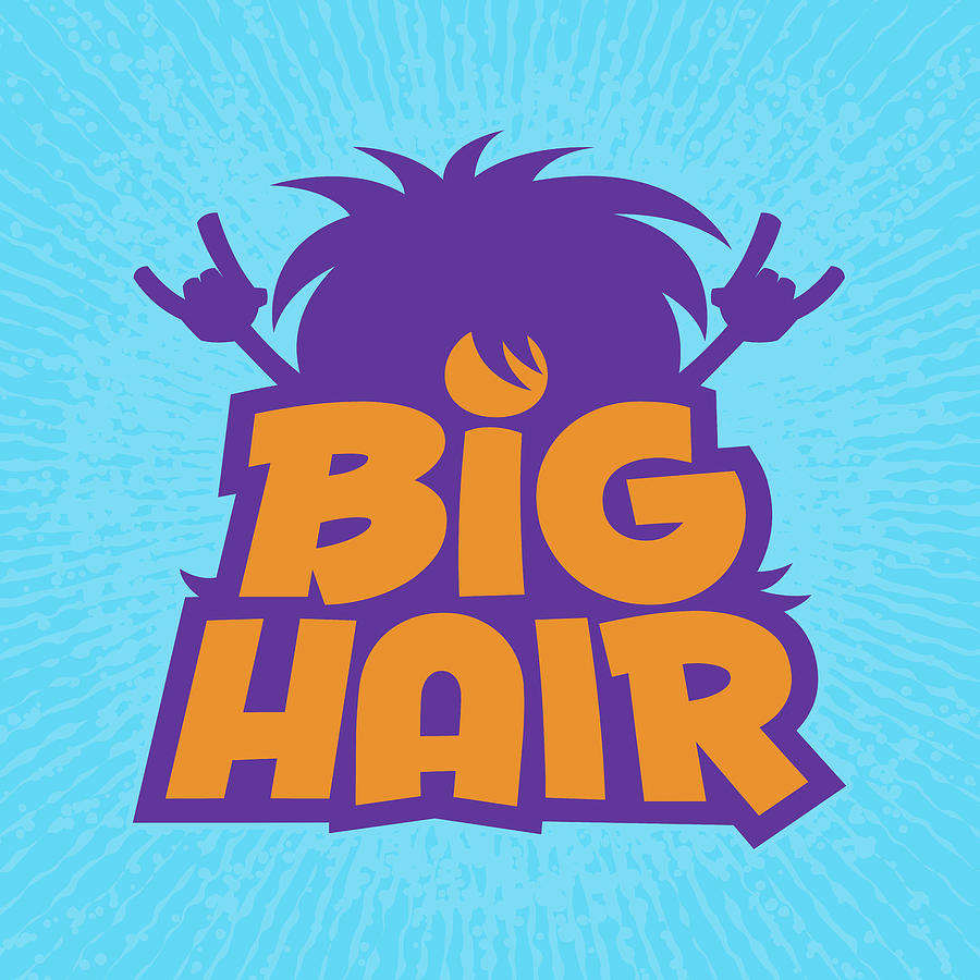 Metal Digital Art - Big Hair Band Logo by John Schwegel