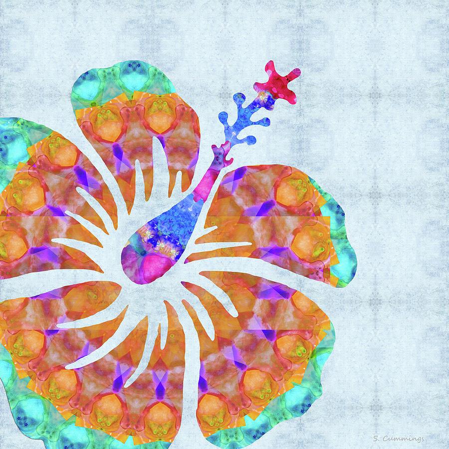 Hibiscus Painting - Big Hibiscus Art - Colorful Mandala Flower - Sharon Cummings by Sharon Cummings