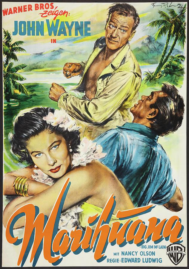 big Jim Mclain, With John Wayne, 1952 Mixed Media