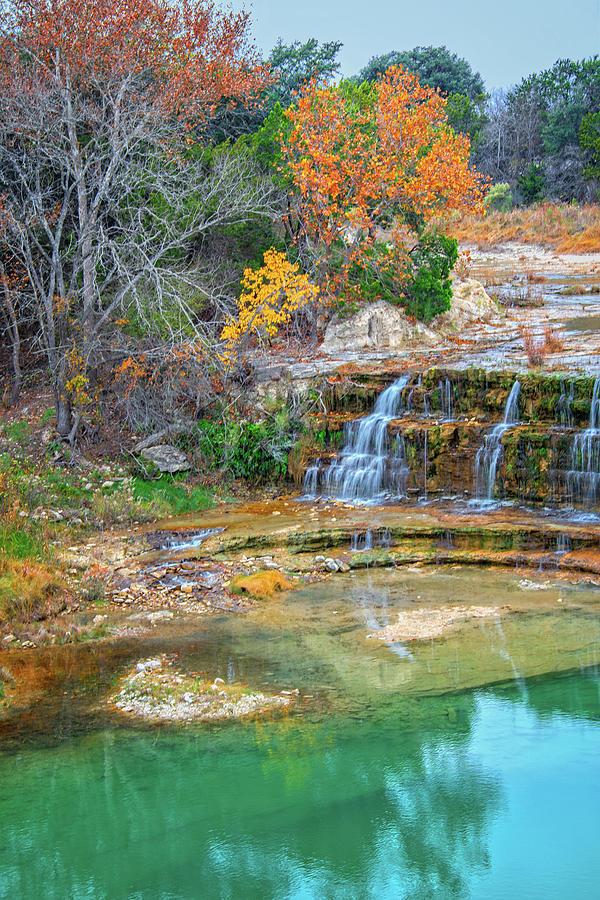 Big Joshua Creek Falls in Autumn by Lynn Bauer