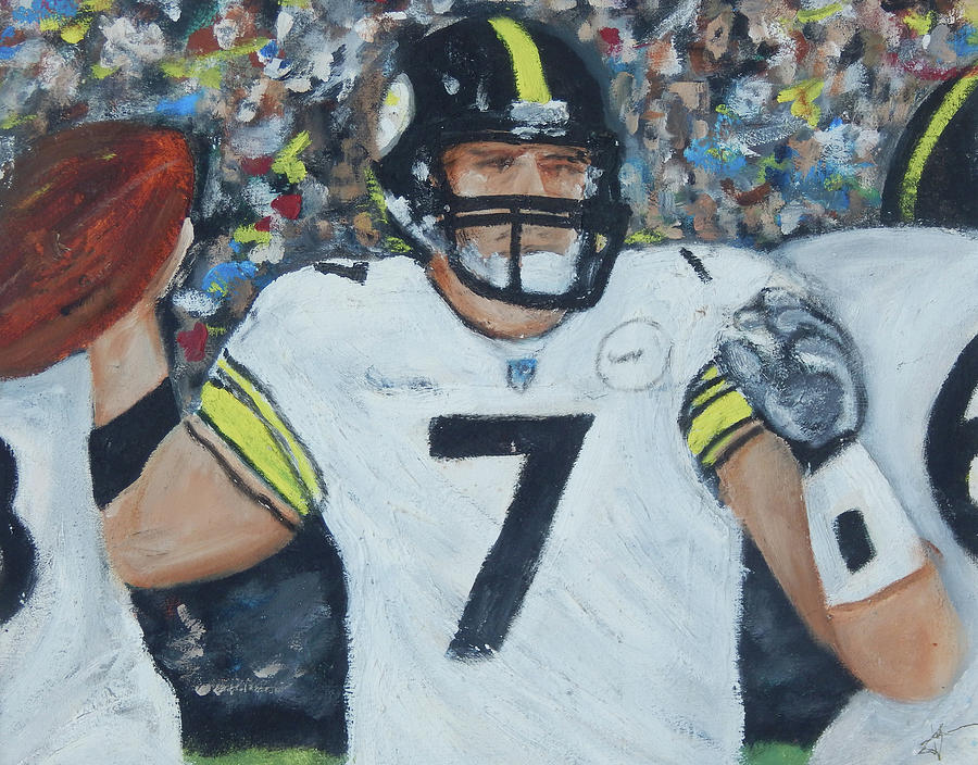 Steelers Painting - Bigben7 by Jorge Delara