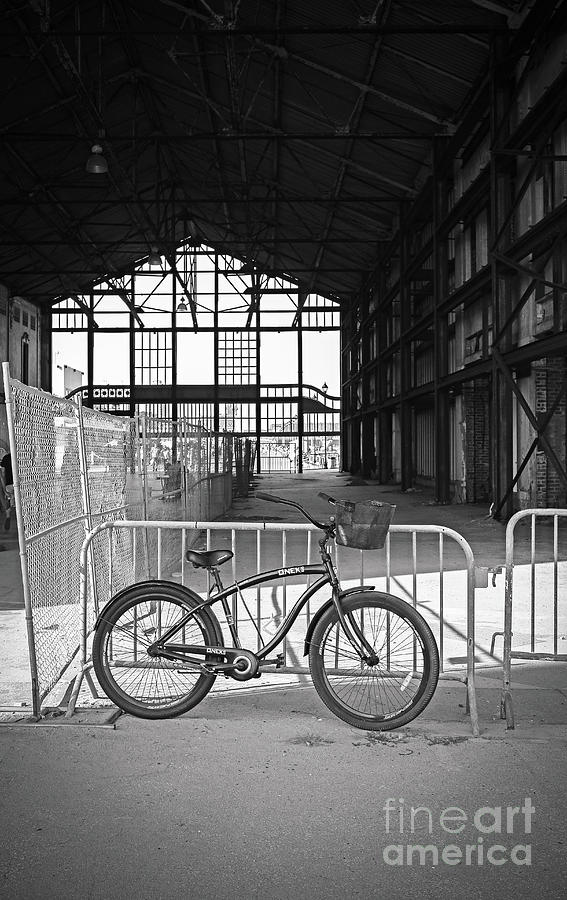 Bike in Asbury Casino in Black and White by Colleen Kammerer