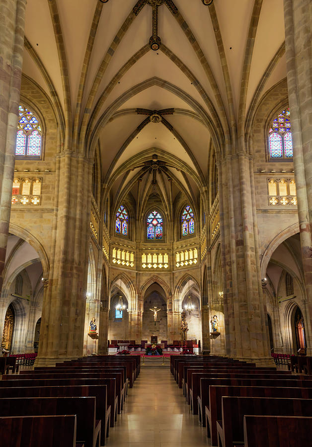 Bilbao Spain Cathedral Interior Photograph