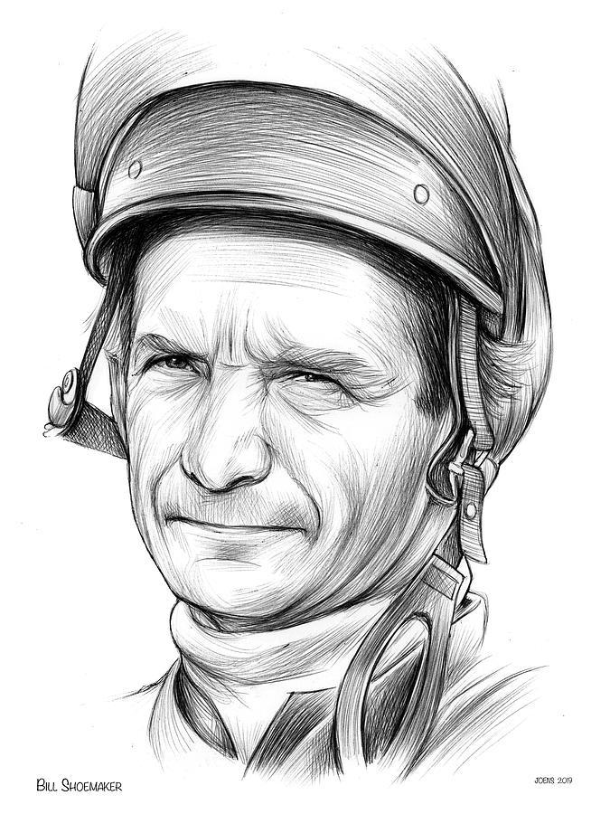 Bill Shoemaker Drawing