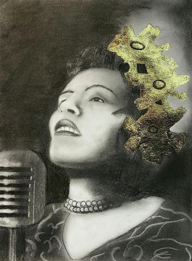 Billie Holiday Drawing - Billie Holiday by Nadija Armusik