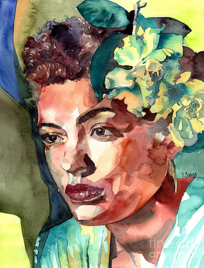 Billie Holiday Painting - Billie Holiday Portrait by Suzann Sines