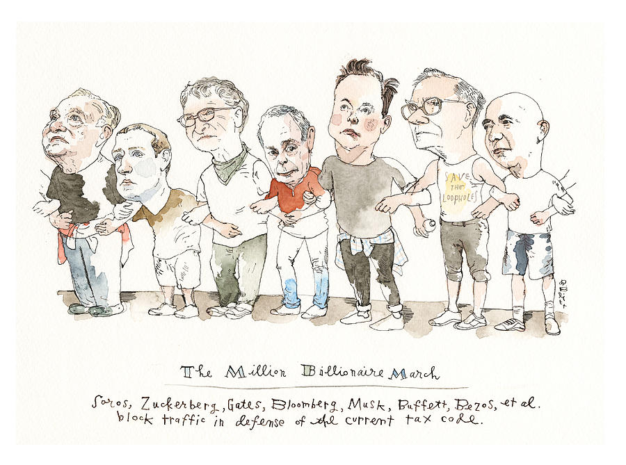 Billionaires vs The Wealth Tax Painting by Barry Blitt