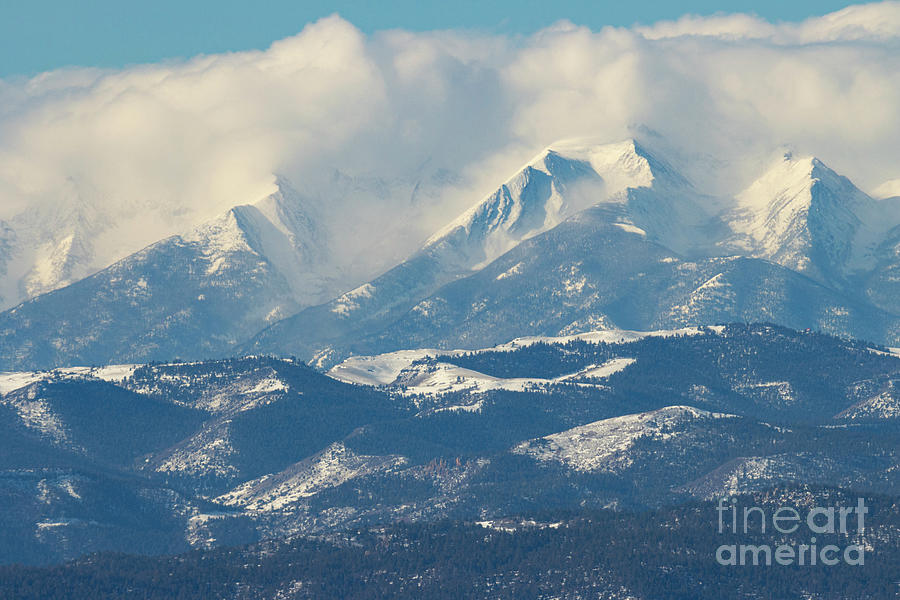 Billowing Clouds On The Sangre De Cristo Photograph