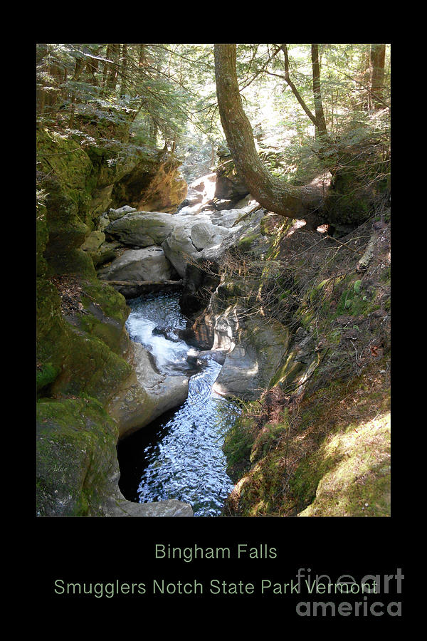 Bingham Falls Smugglers Notch State Park Vermont Photograph