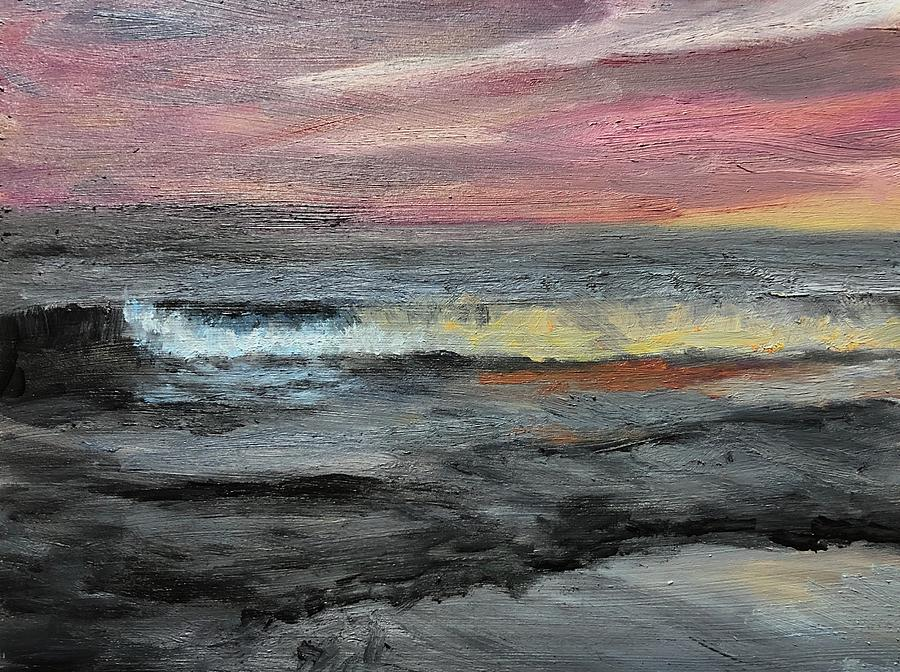 Seascape Painting - Bioluminescence  by Ted Coombs