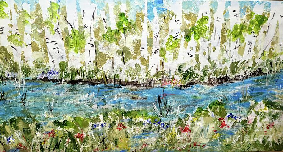 Birch Trees In Spring Painting