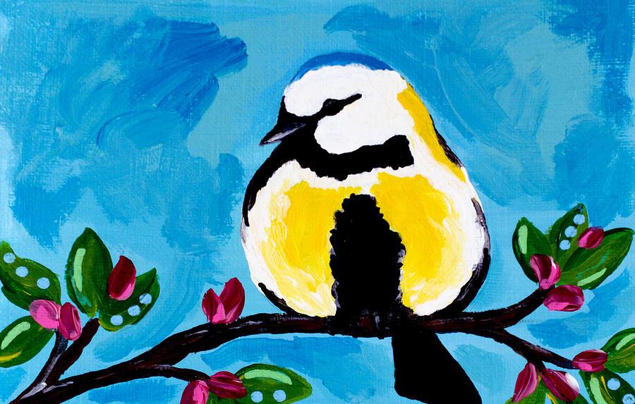 Bird Painting - Bird Blue by Beth Ann Scott