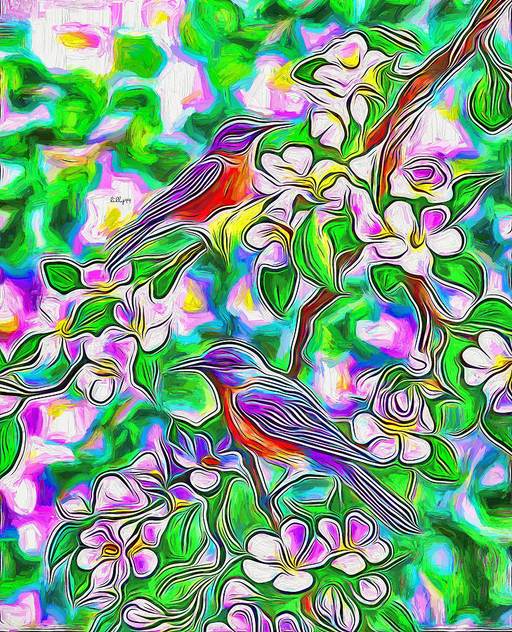 Bird in spring by Nenad Vasic