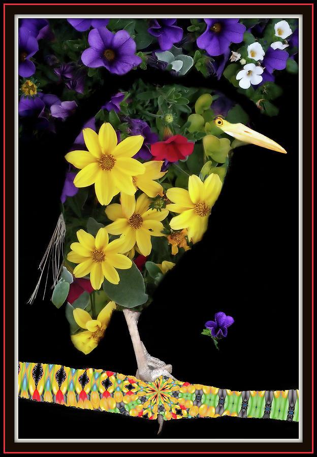 Bird Of Flowers Digital Art