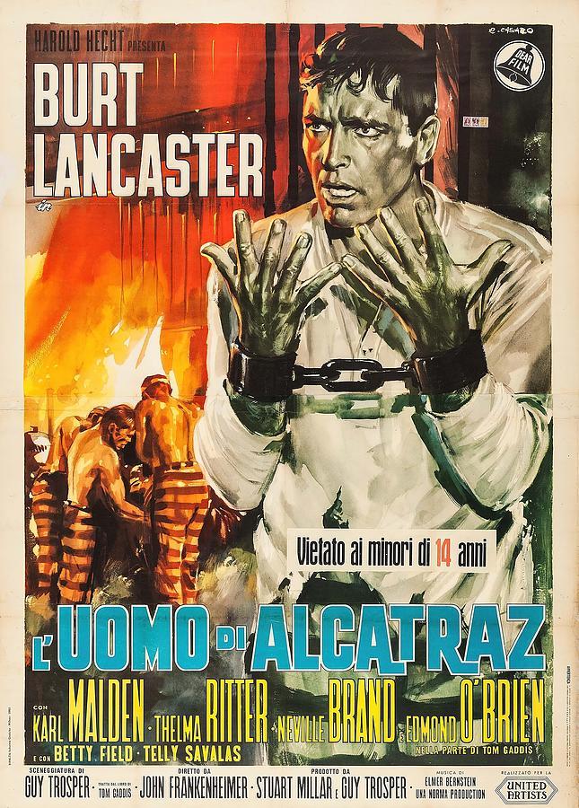 birdman Of Alcatraz, With Burt Lancaster, 1962 Mixed Media