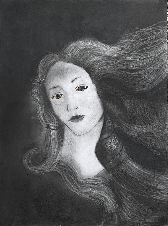 Birth Of Venus Drawing - Birth of Venus by Nadija Armusik