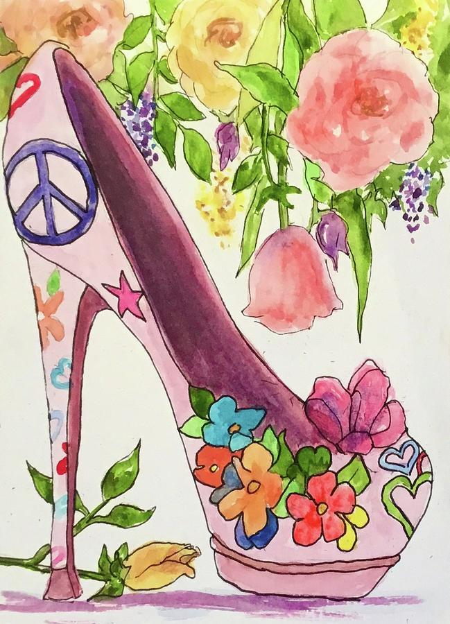 Highheel Painting - Birthday Girl Steppin by Cheryl Wallace