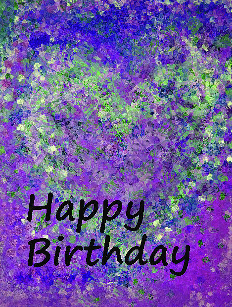 Birthday Heart Green and Purple by Corinne Carroll